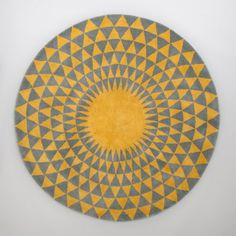 Concentric Rug in Ash Grey / Chartreuse   www.niki-jones.co.uk