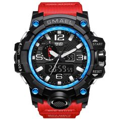 2f1d300e160 SMAEL Brand Dual Display Wristwatches Military Alarm Quartz Clock Male Gift  S Shock Men s Sports Watch for Men Hours relogio