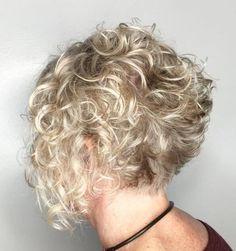 Short Curly Blonde Bob