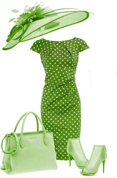 """The Polo Outfit has went through somewhat of a """"re-branding"""" for years. Image Coach, Polo Outfit, Different Shades Of Green, Cool Style, My Style, Green Fashion, Ladies Dress Design, My Favorite Color, Pink And Green"""