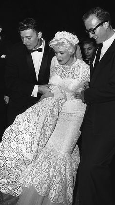 The Best Dressed Celebrity Brides of All Time - Jayne Mansfield  - from InStyle.com