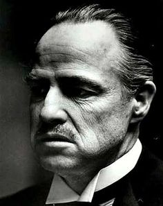 Marlon Brando, as the Godfather Don Corleone Corleone Family, Don Corleone, Marlon Brando The Godfather, Godfather Movie, Godfather Quotes, Foto Glamour, Francis Ford Coppola, Black And White Portraits, Best Actor