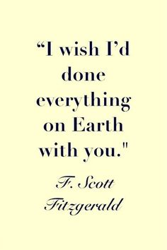 F. Scott Fitzgerald has an amazing gift with words