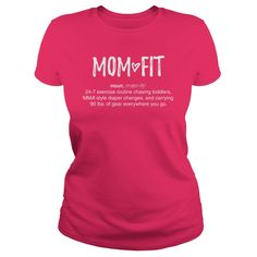 exercise routine chasing toddlers, MMA style diaper changes, and carrying 90 lbs of gear everywhere you go. Great gift idea for new moms trying to get their pre baby body back Funny Workout Shirts, Workout Humor, Gifts For Pregnant Women, Custom Tee Shirts, Baby Body, Happy Kids, New Moms, Holidays Events, Art Cars