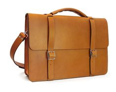 Ready to ship  Messenger Bag / Briefcase  English Tan Full