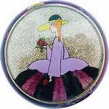 Vintage Coty French Art Deco Glitter Lady Powder Compact from rubylane ...