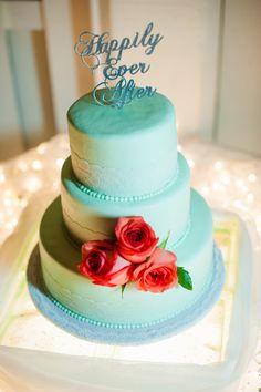 Teal Wedding Cake De