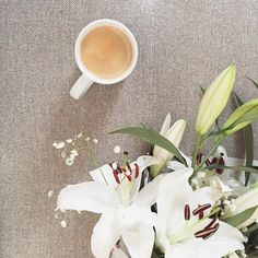 All you need is #coffee & #flowers