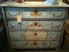 decorative painted chest