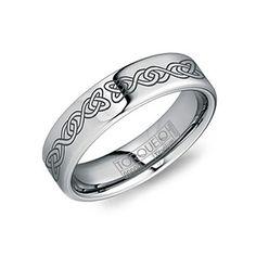 Tungsten Jeweler Free Engraving 3mm Titanium Black Enamel High Polish Wave Facet Cut Fashion Wedding Band Ring for Him or her
