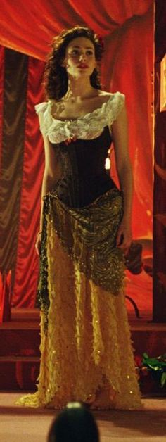 Emmy Rossum as Christine in The Phantom of the opera, during the Don Juan Triumphant musical sequence.