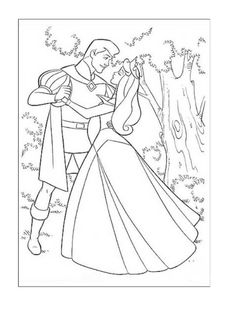 22 Sleeping Beauty Colouring Sheets Book Pages Online
