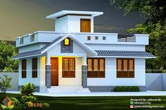 House Arch Design, Single Floor House Design, House Outside Design, Village House Design, Kerala House Design, House Design Photos, Bungalow House Design, Home Design, Front Design