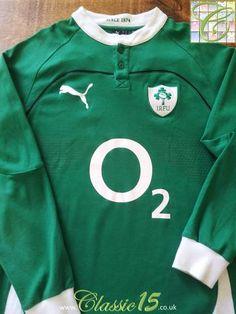 f0c9ffba5e1 Relive Ireland's 2009/2010 international season with this original Puma  home long sleeve rugby shirt