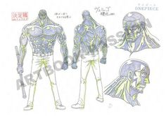 "Punk Hazard. ""Demon Bamboo"" Vergo model sheet, Character design, Official reference, Settei"