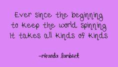 Miranda Lambert- All Kinds of Kinds