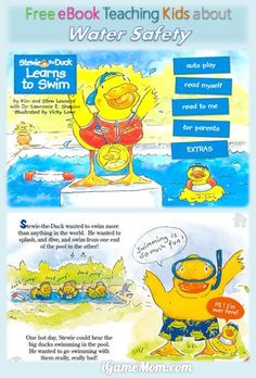 Free Book App Teaching toddler, preschooler and kindergarten kids Water Safety, with simple and easy to remember water rules that kids understand. A must read with kids before you taking them close to open water.