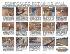 How to build a retaining wall. Building A Retaining Wall, Retaining Walls, All Wall, Yard, Projects, Log Projects, Garten, Courtyards, Tuin
