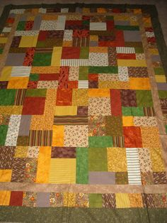 Free Quilt Pattern For Yellow Brick Road : Quilt patterns free, Yellow brick road and Brick road on Pinterest