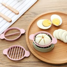 Eco-friendly Multifunction Wheat Straw Cut Egg Slicers Tools Dividers Preserved Egg Splitter Kitchen Cooking Tools 4 color