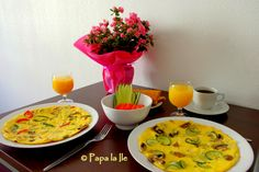 Colored and round omelettes for weekends... | Papa la Ile