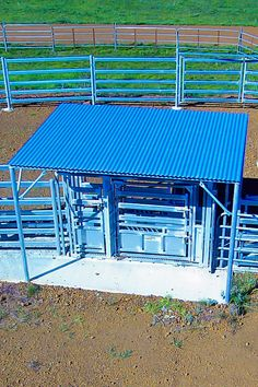 Cattle crush with a roof over the top to save you from working hours in the sun. Agriculture, Farming, Cattle Corrals, Heavy Duty Scissors, Beef Cattle, Led Work Light, Horse Saddles, Working Area, Livestock