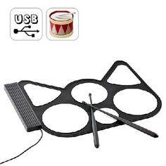 Portable Roll-up USB Drum Kit with Drum Sticks