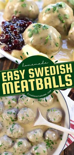 Give this comfort food recipe a try! Everyone will love these better-than-IKEA Swedish Meatballs smothered in creamy homemade gravy. Check out the ways to enjoy this easy main dish for a family-pleasing dinner idea! Dinner Recipes Easy Quick, Easy Delicious Recipes, Simple Recipes, Delicious Food, Tasty, Easy Family Meals, Easy Meals, Easy Homemade Gravy, Recipe Maker