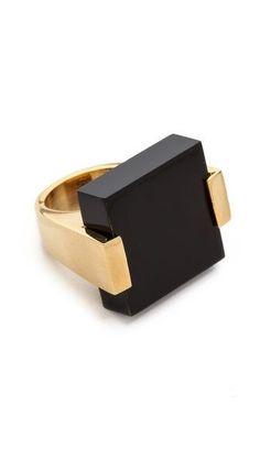 Jules Smith Square Acrylic Ring-love the color, love the shape Bijoux Design, Schmuck Design, Jewelry Design, Modern Jewelry, Vintage Jewelry, Fine Jewelry, Contemporary Jewellery, Antique Jewelry, Handmade Jewelry