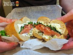 The signature lox sandwich from Ess-a-Bagel in New York City.