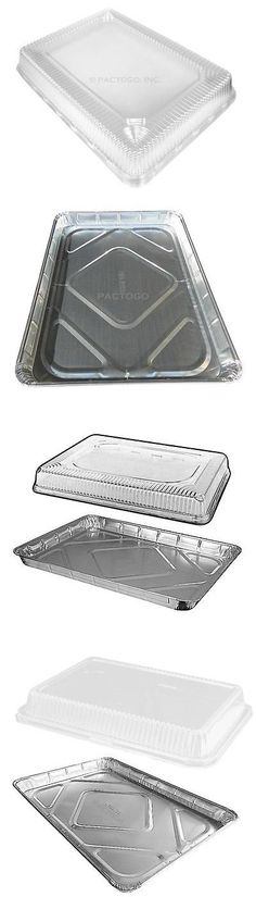 Handi-Foil Half 1/2 Size Sheet Cake Aluminum Foil Pan w/Clear High Dome Lid (pack of 20)