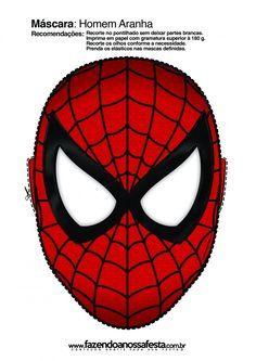 Baixe a imprima a máscara do Homem Aranha!