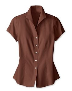 Short sleeve no-iron shirt | Coldwater Creek