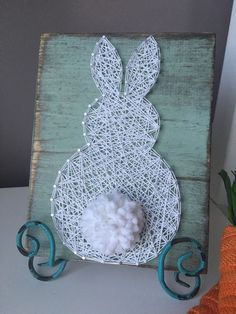 Fluffly Bunny String Art by GirlwithGlue on Etsy                                                                                                                                                                                 More