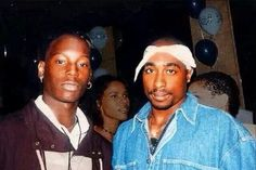 """Pac and Tyrese.. Interesting fact.. 2pac was originally the one that was going to play """"Jody"""" in the movie """"Baby boy"""" but pac was killed.. before this could take place. :("""