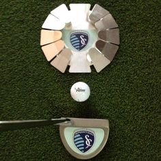 #SportingKC putting cup, putter and golf ball (via @logoputter on Instagram)