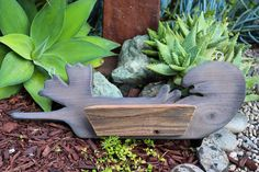 Custom otter made from reclaimed wood. Such a fun addition for a plant wall 🦦 Wooden Containers, Succulents In Containers, Wood Planters, Hanging Planters, Pineapple Ukulele, Dish Garden, Succulent Arrangements, Plant Wall, Otter
