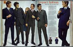 Kay Catalogue mens mod fits - Suit World 60s Men's Fashion, Mens Fashion Suits, Trendy Fashion, Fashion History, 1960s Outfits, Vintage Outfits, Estilo Mod, Mod Suits, Men's Suits