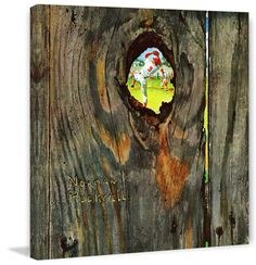 Marmont Hill Knothole Baseball Norman Rockwell Painting Print on Canvas