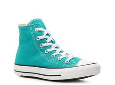Converse Chuck Taylor All Star High-Top Sneaker - Womens canvas teal sz7 49.95