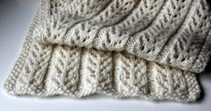 Birch Trees Scarf Free Pattern hand knitted things blog