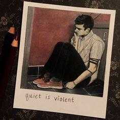 Quiet is Violent  Print of Polaroid Drawing by thisismyshopbye