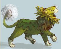 Dandelion lion (via Iguanamouth)