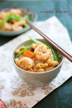 Cashew Shrimp, a popular Chinese recipe in the United States. So good with steamed white rice!