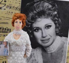 Beverly Sills Doll Miniature Opera Singer by UneekDollDesigns