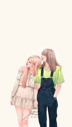 Pink Drawing, Cute Girl Drawing, Kpop Drawings, Cute Drawings, Fan Art, Film Manga, Lisa Blackpink Wallpaper, Black Pink Kpop, Kim Jisoo