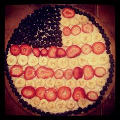 4th of July fruit pizza :)