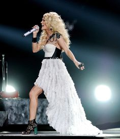 Carrie Underwood in Cri de Coeur Lovely lace booties.