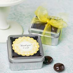 Square Favor Tins by Beau-coup
