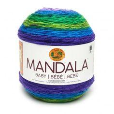 Lion Brand Mandala Yarn 150g Cake wool knitting crochet gradient blue Griffin